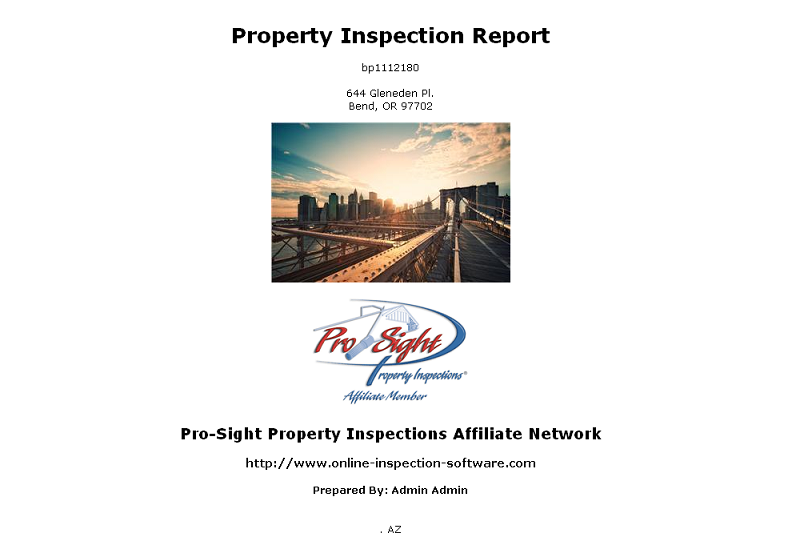 Inspection Report Slider